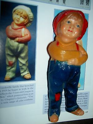 "Viscoloid USA~1920s vintage JACKIE COOGAN, ""The Kid"" figural celluloid doll toy"