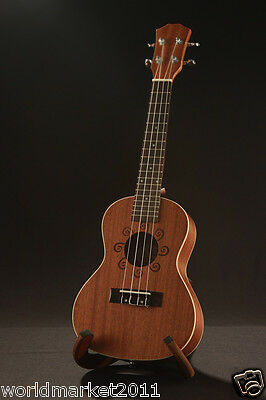 """Brown 23"""" Ukulele Guitar Mahogany Gifts Acoustic Performance Musical Instrument"""