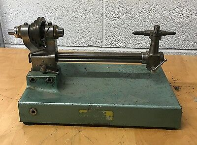 Lorch Schmidt & Co Watchmakers Lathe Headstock Tailstock Bed And Base 012