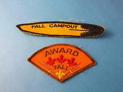 Boy Scouts Canada Patches Lot 2 Fall Campout Fall Award Red Maple Leafs