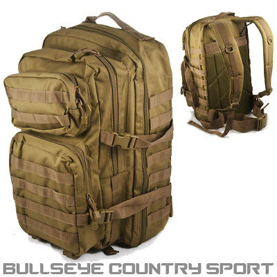 Mil-Tec Us Assault Backpack 36 Ltr Coyote Airsoft Camping Hiking Fishing