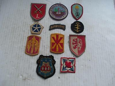 Mixed Lot, Cloth Patch Badges, Military, Football, Travel? 11 Badges. Lot 2