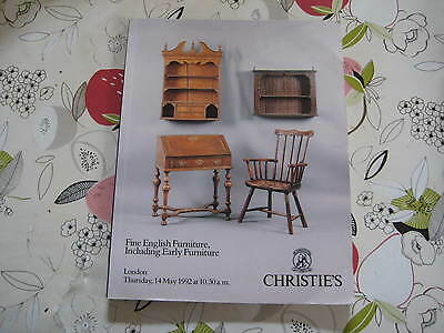Christies Catalogue Fine English Furniture Lon May92