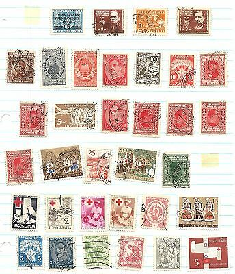 Yugoslavia -  350 Stamps -Majority Used - Old Collection On Pages