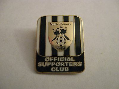 Rare Old Notts County Football Supporters Club Enamel Brooch Pin Badge