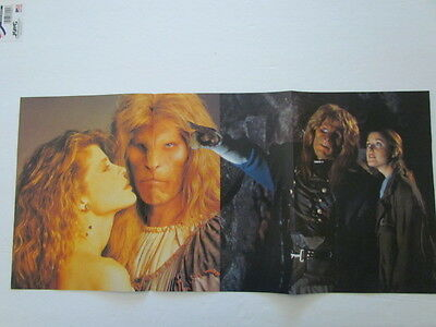 1990's Magazine Fold-Out Poster - BEAUTY AND THE BEAST - Linda Hamilton,Perlman
