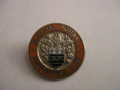 Rare Old Blackpool Football Supporters Club Enamel Brooch Pin Badge