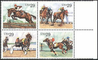 USA 1993 Horses/Animals/Nature/Sports/Racing/Jumping/Transport 4v blk (b5492a)