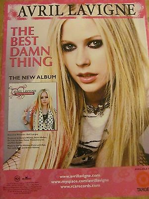 Avril Lavigne, The Best Damn Thing, Full Page Promotional Ad