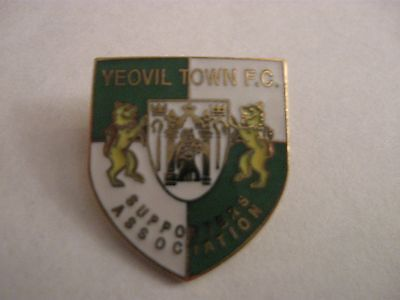 Rare Old Yeovil Town Football Supporters Club Enamel Brooch Pin Badge