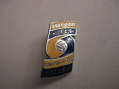 Rare Old Southport Football Supporters Club (2) Enamel Brooch Pin Badge