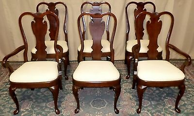 PENNSYLVANIA HOUSE DINING CHAIRS Cherry Queen Anne Style Set of 6 #18-3120