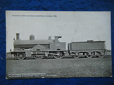 """LNWR OFFICIAL w/OVERPRINT (L21) """"MARCHIONESS OF STAFFORD"""" - SCARCE POSTCARD!"""