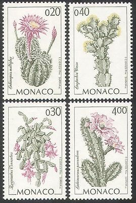 Monaco 1994 Cactus/Cacti/Plants/Nature/Flowers 4v set (n41504)
