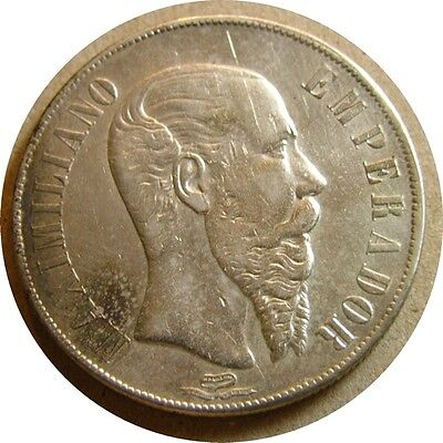elf Mexico Empire of Maximilian 1 Peso 1866 Mo