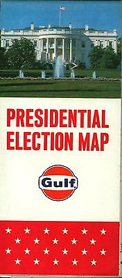 1964 DATED Gulf Oil Gas Station Oil U S  Presidential Election Map
