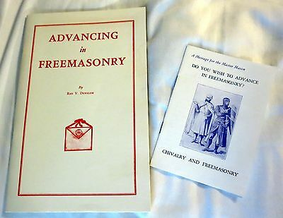 Vintage Advancing in Freemasonry by Ray V. Denslow Booklet w/Publication