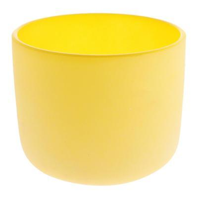 Frosted E Solar Chakra Crystal Singing Bowl Excellent Quality 7Inch Yellow
