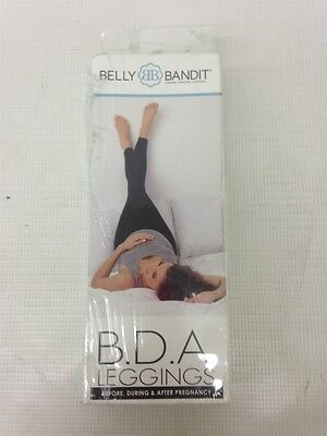New Belly Bandit B.D.A Stretch Knit Maternity Leggings Black Size S