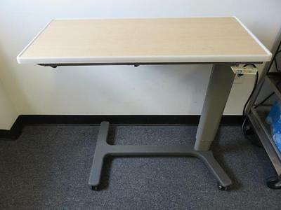 """Hill-Rom 630-F Overbed Hospital Table 33.5"""" x 15"""" Top w/ Adjustable Height"""