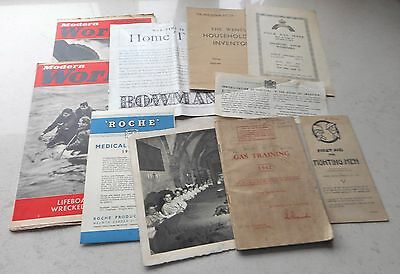 10 Original Ww2 Items - Some Issued - Some Advertising - Photo Etc.