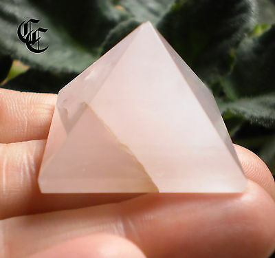 Pink ROSE QUARTZ Stone PYRAMID #4 Wiccan Pagan Witch Ritual Crystal Magick