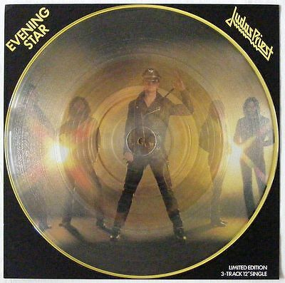 "JUDAS PRIEST UK 1979 LIMITED CLEAR VINYL 12"" Single Evening Star	Disc=MINT"