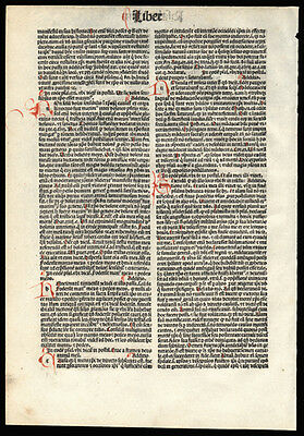 1493 Koberger Bible Leaf Incunable Psalm 21 Nuremberg 5 Hand-Colored Initials