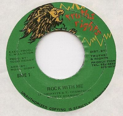 "MIGHTY DIAMONDS JA Reggae 7"" Single Truth Rights ROCK WITH ME"