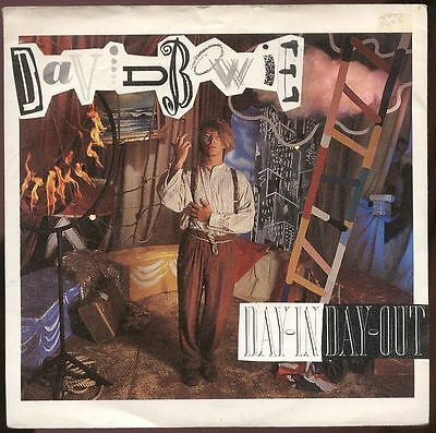 """DAVID BOWIE UK 1987 7"""" Single DAY IN DAY OUT"""