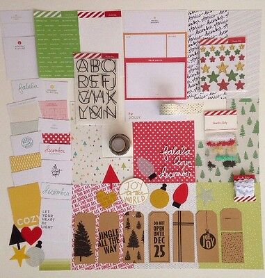 Ali Edwards December Daily 2016 Partial Main Kit Christmas Holiday Cards Stars
