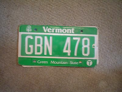 Vermont Green Mountain          License Plate    Buy All States Here