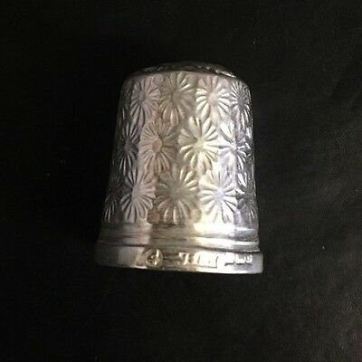 JS and S. Birmingham Hallmarked Silver Thimble - Size 7