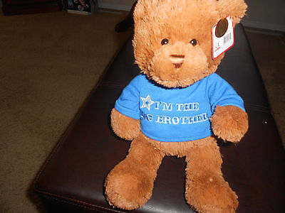 Adorable Soft & Cuddly Grund Teddy Bear~Wears T-Shirt ` I'm The Big Brother~New