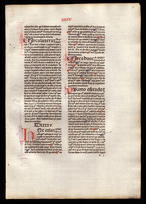 Commentary on  Sentences of Peter Lombard 1477 Incunable Bishop of Paris