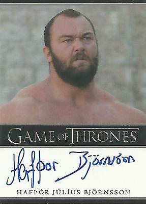 "Game of Thrones Season 6 Hafpor Julius Bjornsson ""Gregor Clegane"" Autograph Card"