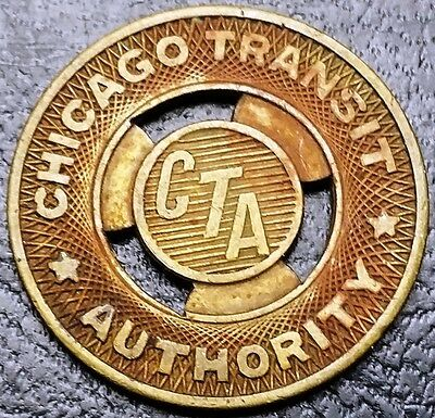 Vintage Chicago Transit CTA Authority Token - Good For One Bus Fare
