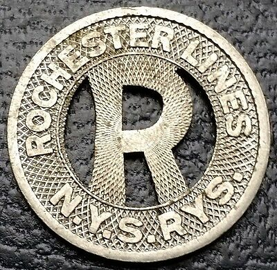 Vintage Rochester Lines New York - Good For One City Fare Transit Token