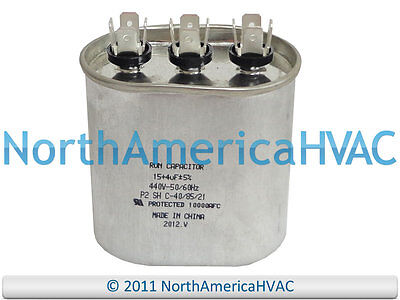 Packard Oval Dual Motor Capacitor 80+7.5 uf MFD 440 Volt POCFD8075 POCFD8075A