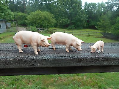 PIG FAMILY by Schleich/boar/sow/13288/13287/13290/RETIRED/pigs/toy