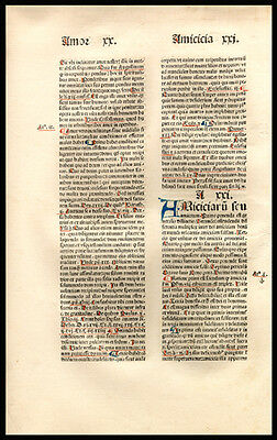533 Yr Old Incunable John Bromyard Greatest Proclamation Dominican Theologian