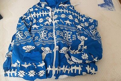 Men's Blue patterned Hooded Onsie size L New Look