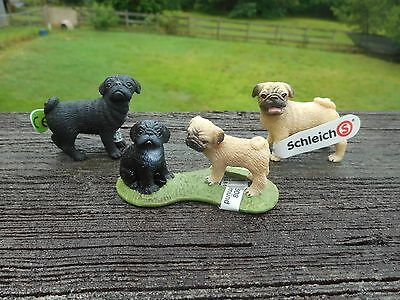 PUG FAMILY by Schleich/ dog/toy/ 16383/16382/16381/RETIRED
