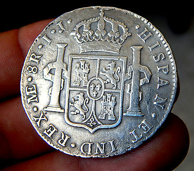 391-INDALO- Spain - Charles IV - Silver 8 Reales 1796 Lima IJ !!!!!!!!!!!!!!!!!!