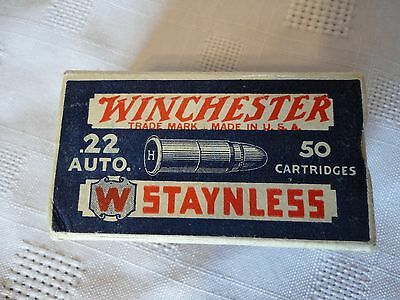 Empty Vintage Winchester .22 auto Staynless box