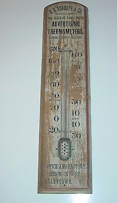 Vintage HH Schrope Advertising Thermometers Thermometer Allentown PA  Broken