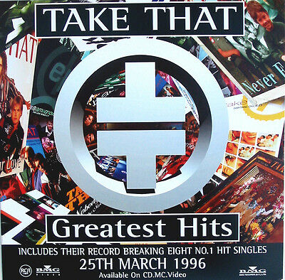 TAKE THAT POSTER Greatest Hits UK Promo Only DISPLAY Card
