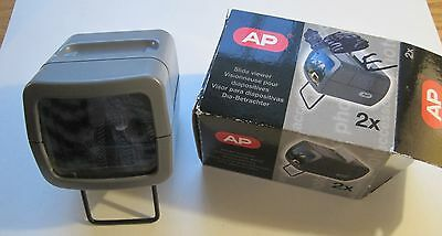 AP Hand Held Small 2X Magnification Slide Viewer Battery Operated