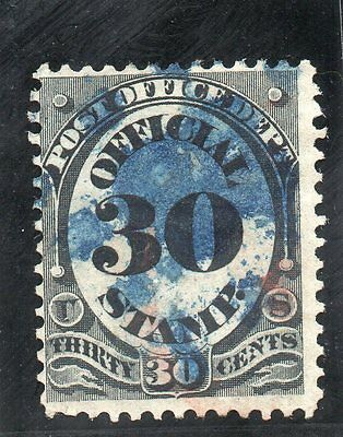 USA - 1870's Officials - Sc O55 - 30c Post Office