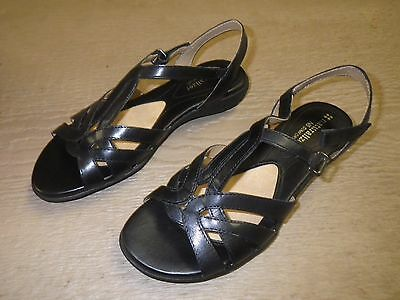 9da690ebbace Naturalizer Canary Black Leather Sandals Size 6 Medium Brand New in Box!